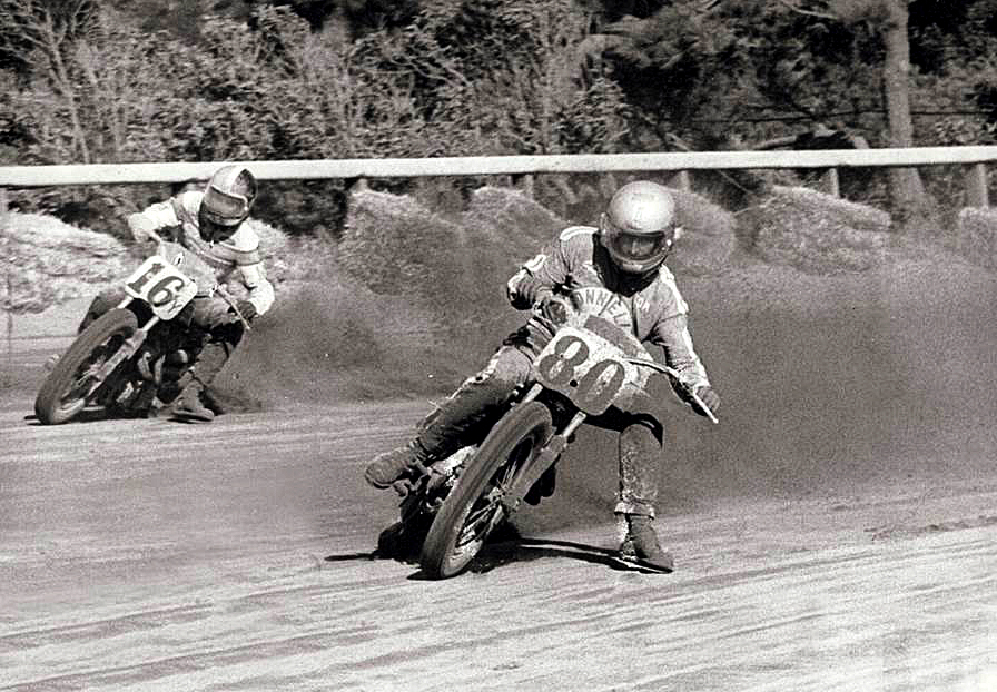 Tom White winning the 1974 San Francisco's Golden Gate Fields Mile AMA National.